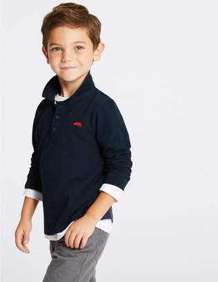 Marks and Spencer Pure Cotton Polo Shirt (3 Months - 7 Years)