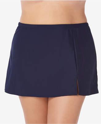 Macy's Swim Solutions Plus Size Swim Skirt, Created for