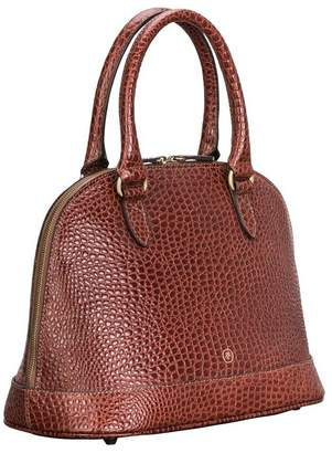 Croco Maxwell Scott Bags Luxury Mock Crocodile Leather Tote Bag 'Rosa Croco'