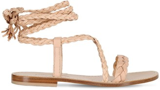10mm Faito Braided Leather Sandals