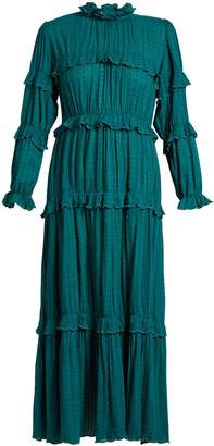 Etoile Isabel Marant Yukio ruffle-trimmed tiered cotton dress