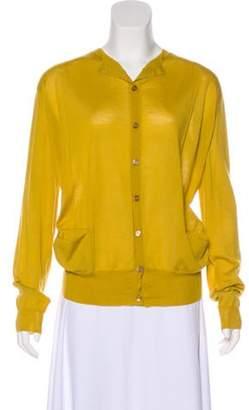 Marni Cashmere Lightweight Cardigan Yellow Cashmere Lightweight Cardigan