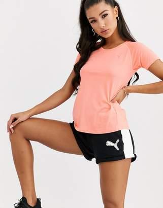 Puma A.C.E. raglan t-shirt in bright peach