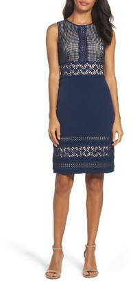 Women's Adrianna Papell Lace & Crepe Sheath Dress $150 thestylecure.com