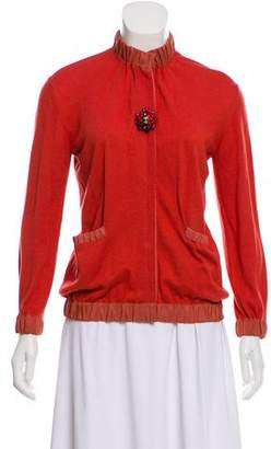 Lanvin Embellished Long Sleeve Cardigan