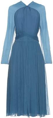 Nina Ricci Long-sleeved silk midi dress