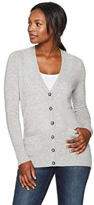 Lark & Ro Amazon Brand Women's 100% Cashmere Soft Boyfriend Cardigan Sweater