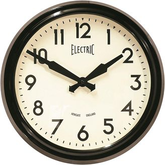 Newgate 50s Wall Clock, Black