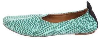Celine Woven Round-Toe Flats
