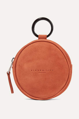 Simon Miller Circle Pop Suede Pouch - Brick