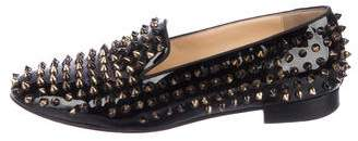 Christian Louboutin Patent Leather Spike Loafers