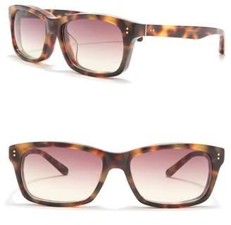 Linda Farrow 56.5mm Small Square Tortoise Shell Sunglasses