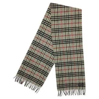 Burberry Grey Wool Scarves
