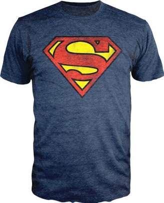 Bioworld Superman Logo Shield Heathered Slim Fit T-Shirt