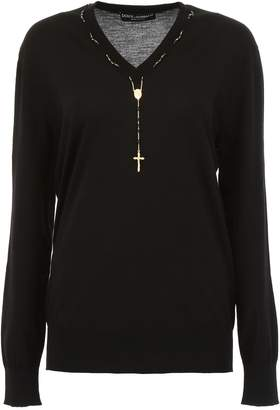 Dolce & Gabbana Pullover With Rosary