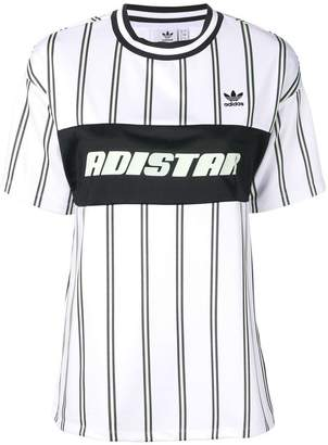 adidas striped loose T-shirt