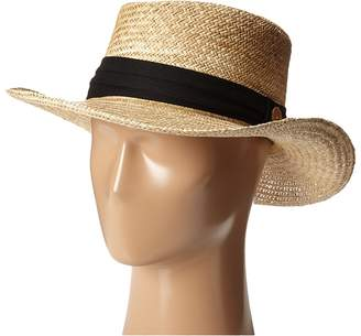 Tommy Bahama Palm Fiber Gambler with 3 Pleat Cotton Band Caps