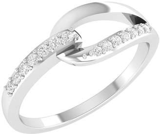 Panache Exports H-I,I1-I2 10k Gold Natural Diamond Infinity Wedding Anniversary Band 1/10 CT-5.5
