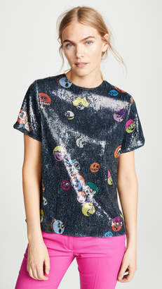 Mira Mikati Printed Sequin Top