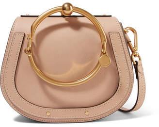 Chloé Nile Bracelet Leather And Suede Shoulder Bag - Beige