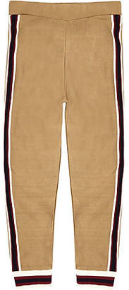 River Island Boys brown knitted striped hem joggers