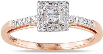 JCPenney MODERN BRIDE 1/5 CT. T.W. Diamond 10K Rose Gold Quad Princess Bridal Ring