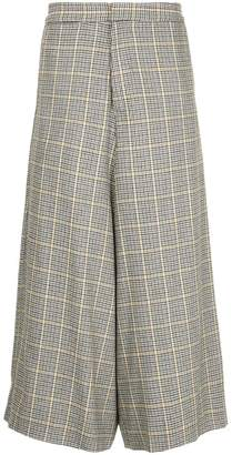 Bassike checked wide leg trousers