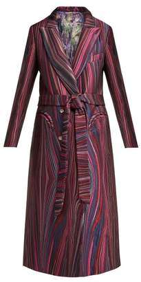 Blazé Milano Blaze Milano - X Arizona Muse Sundance Striped Jacquard Coat - Womens - Pink Multi