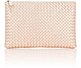 Bottega Veneta Women's Large Zip Pouch-PINK $870 thestylecure.com