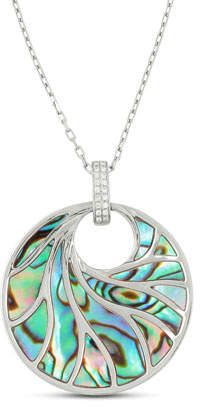 Frederic Sage Venus Abalone & Diamond Pendant Necklace