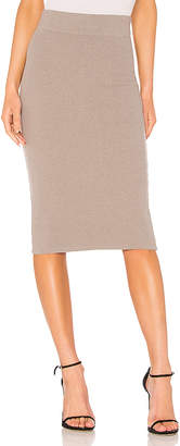 James Perse Melange Rib Skinny Skirt
