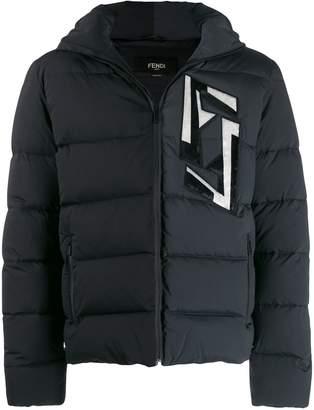 Fendi FF appliqué padded jacket