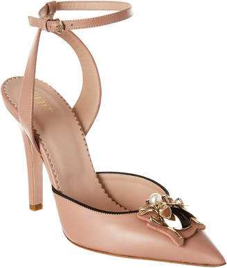 RED Valentino Ankle Strap Leather Pump