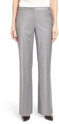 Women's Classiques Entier Wool Blend Flare Leg Suit Pants $199 thestylecure.com
