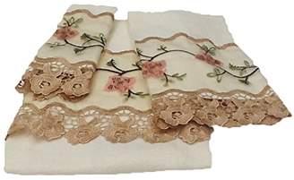Editex Home Curtain 3 Piece Rose Garden Towel Bath Set