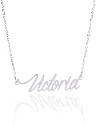 Ralph Lauren HUAN XUN Stainless Steel Small Delicate Custom Name Necklace, Victoria