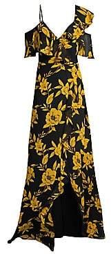 Jay Godfrey Women's Malley Cold-Shoulder Ruffle Dress