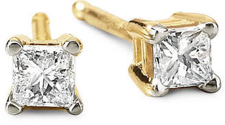 JCPenney FINE JEWELRY 1/5 CT. T.W. Princess Diamond Studs 14K Yellow Gold