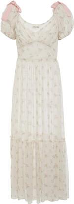 LoveShackFancy Angie Silk Midi Dress