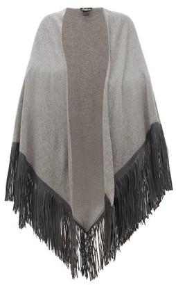 Babjades - Leather Tassel Cashmere Shawl - Womens - Grey