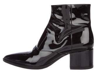 Miu Miu Patent Leather Pointed-Toe Ankle Boots