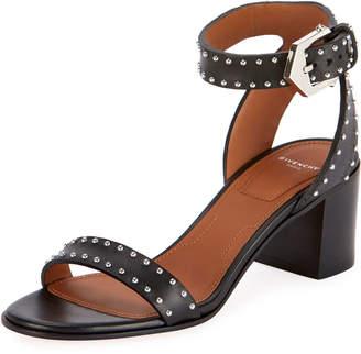 Givenchy Elegant Studded Leather Sandals