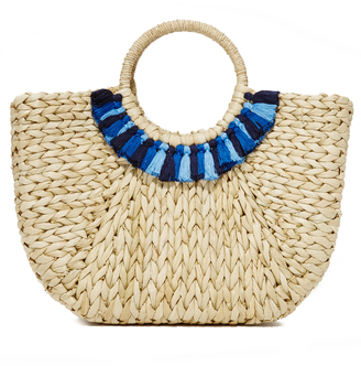 Hat Attack Round Handle Tote $110 thestylecure.com