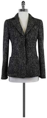 Armani Collezioni Black & White Sequined Jacket $148.99 thestylecure.com