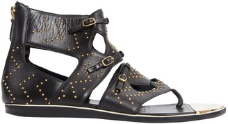Nicholas Kirkwood Black Leather Sandals