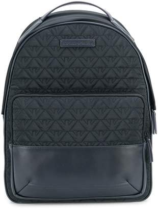 Emporio Armani logo embroidered backpack