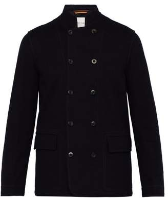 Paul Smith Double Breasted Wool Blend Blazer - Mens - Navy