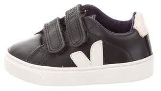 Veja Boys' Leather Logo Sneakers