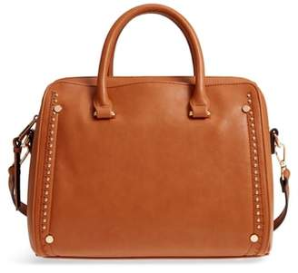 Sole Society Speedy Studded Faux Leather Satchel