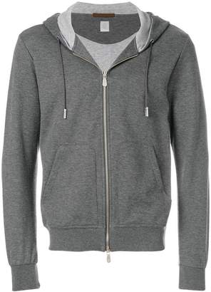 Eleventy zipped hooded sweatshirt